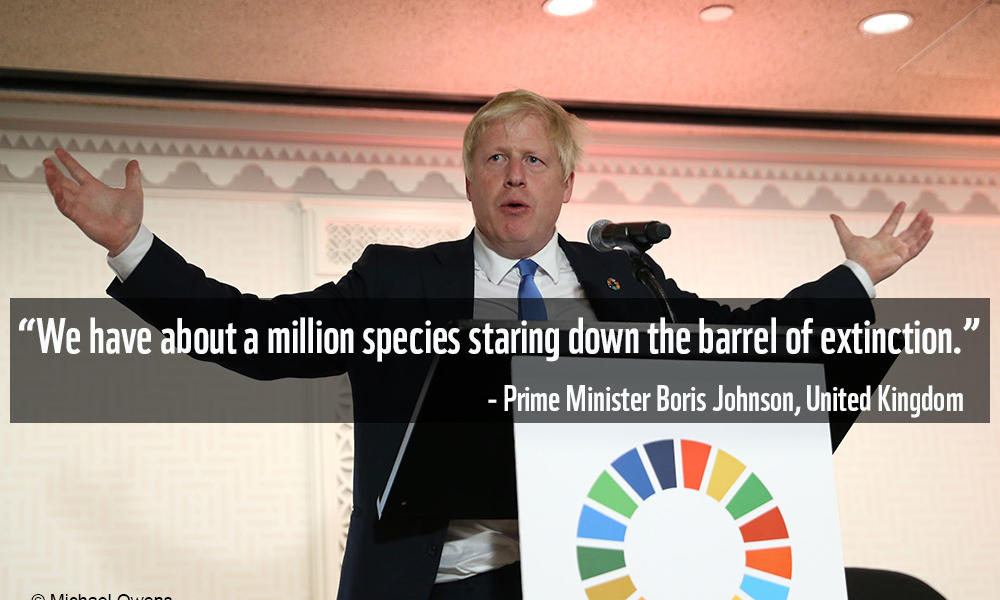 Boris Johnson at UNGA