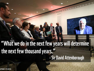 Sir David Attenborough at UNGA