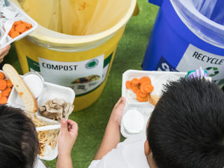 Food Waste Education Program by the World Wildlife Fund at Seaton Public Elementary School in Washington, DC, United States of America