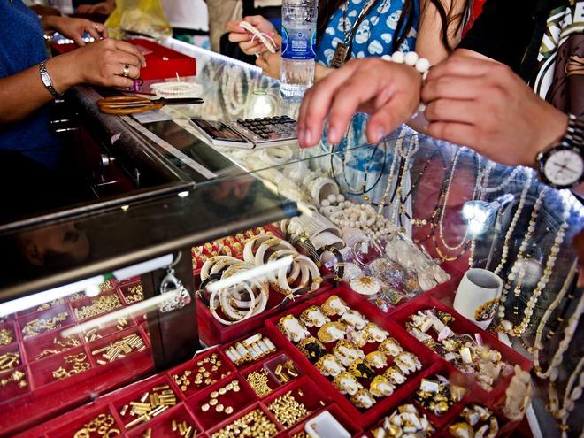 Ivory amulets and trinkest in Bangkok, Thailand
