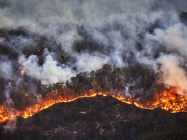Australia bushfire Blue Mountains
