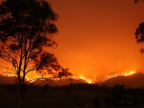 Australian bushfire in Bowraville, NSW