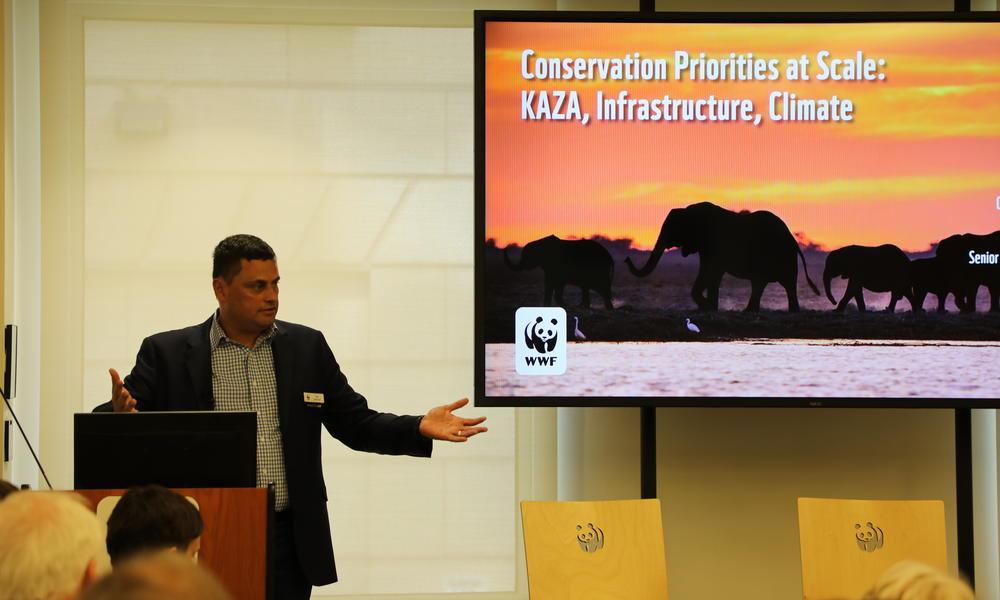 WWF CCO Nik Sekhran speaks at the 2019 Partner Symposium