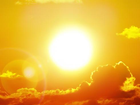 Sun during a heatwave