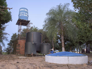water treatment plant on Isla Margarita, Paraguay, Pantanal