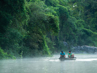 Boaters on Paraguay River