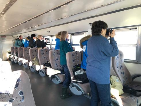 King of the Arctic Legacy Circle Trip - Passengers on bus