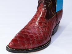 pangolin skin cowboy boots