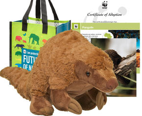 Pangolin plush available in WWF's Online Gift Center
