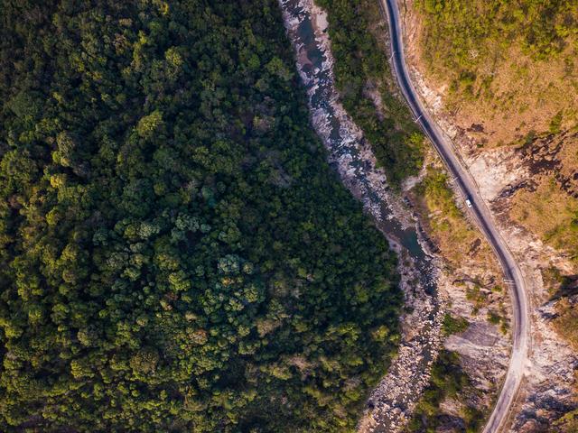 Aerial view of Tanintharyi region, Myanmar.
