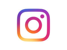 Instagram logo on white background