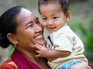 Harigala Almathir and son in Nepal