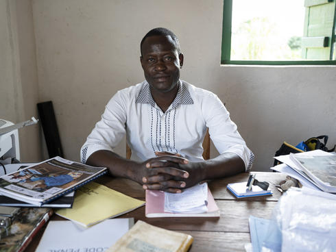"Yvon Amolet Martial, head lawyer at the Human Rights Center (""Centre Des Droits De L'Homme""), in Bayanga"