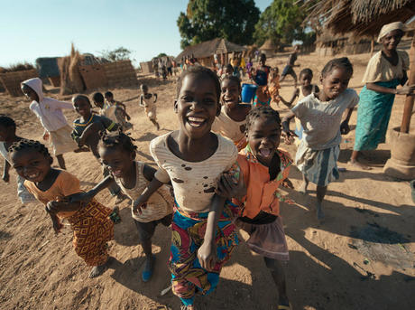 Children smiling in Marrupa, Mozambique, Africa
