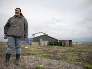Port Heiden, Alaska farmer Lillionna Kosbruk