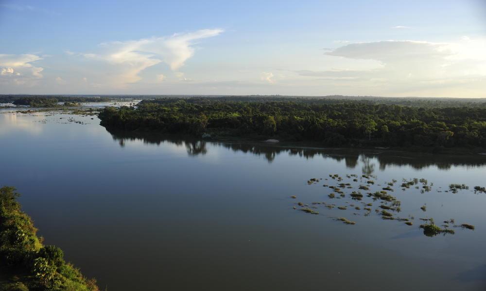 Aerial river Cambodia (Kampuchea)