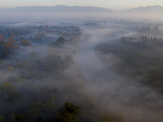 Aerial view of Bardia National Park, Nepal