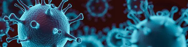 Blue image of coronavirus