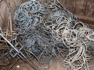Confiscated snares and traps in Cambodia.