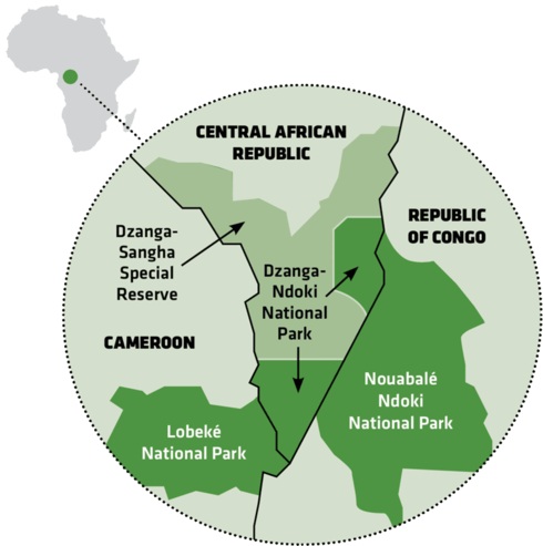 Map of Congo Basin parks