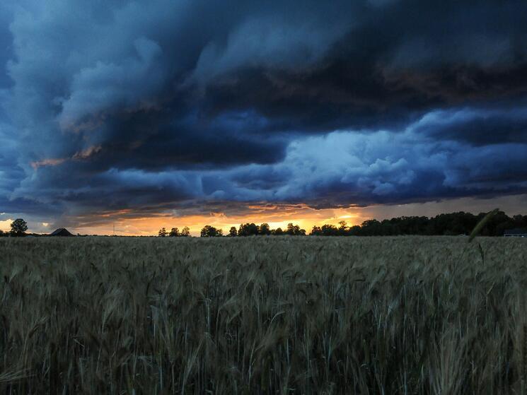 Stormy landscape in Ottowa