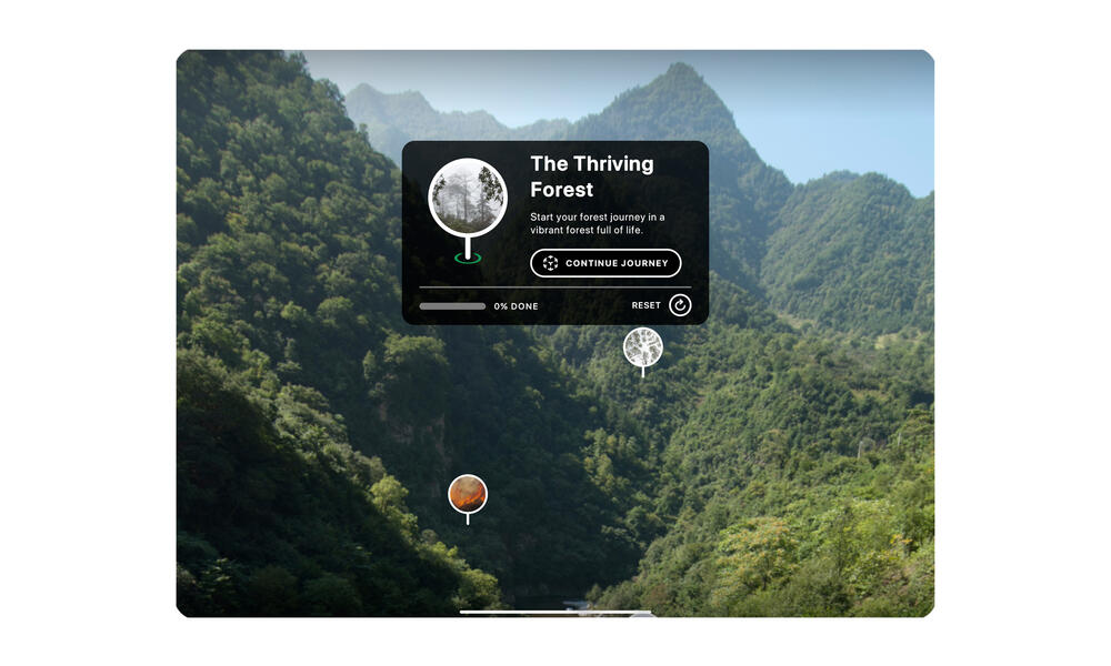 The Thriving Forest Opening Screen
