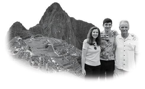 Kennedy family at Machu Picchu