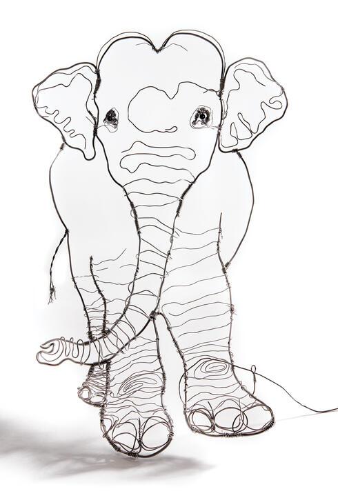 Elephant line illustration