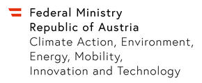 Republic of Austria, Federal Ministry for Climate Action, Environment, Energy, Mobility, Innovation and Technology logo