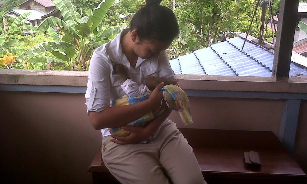 Trishna Gurung holding Biam