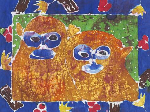 monkeys batik