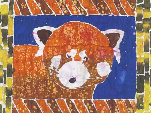 red panda batik