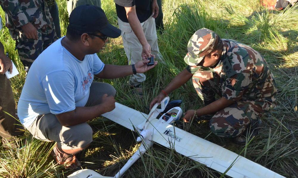 Programming a UAV in Nepal