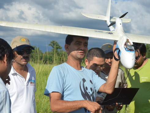 Preprogramming a UAV in Nepal