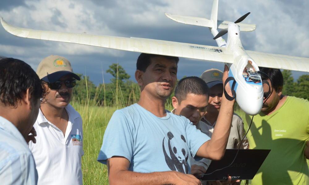 Preprogramming a UAV in Nepal