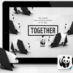 WWF Together App on iPad