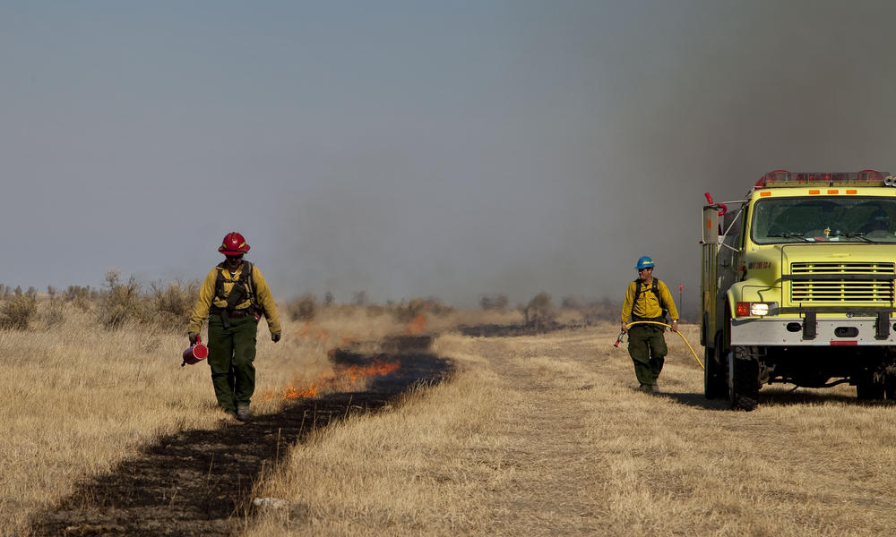 Prescribed burn on Northern Great Plains