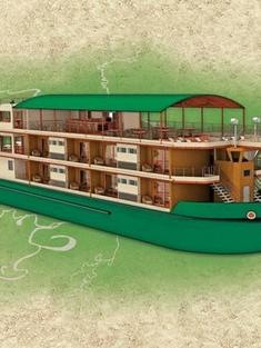 La Estrella Amazonica ship sketch travel