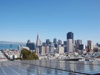 Solar panels and SF skyline