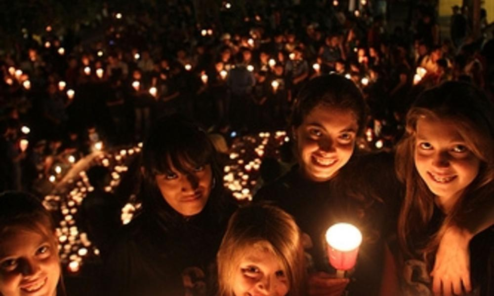 Earth Hour Candle Girls