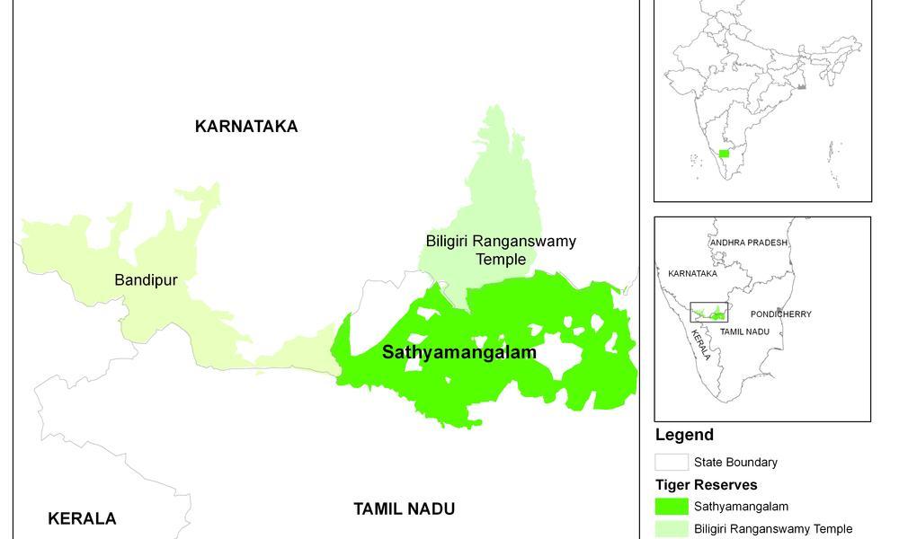 Map of Sathyamangalam
