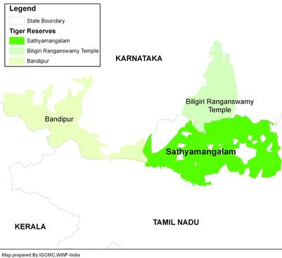 India Tiger Reserve Map