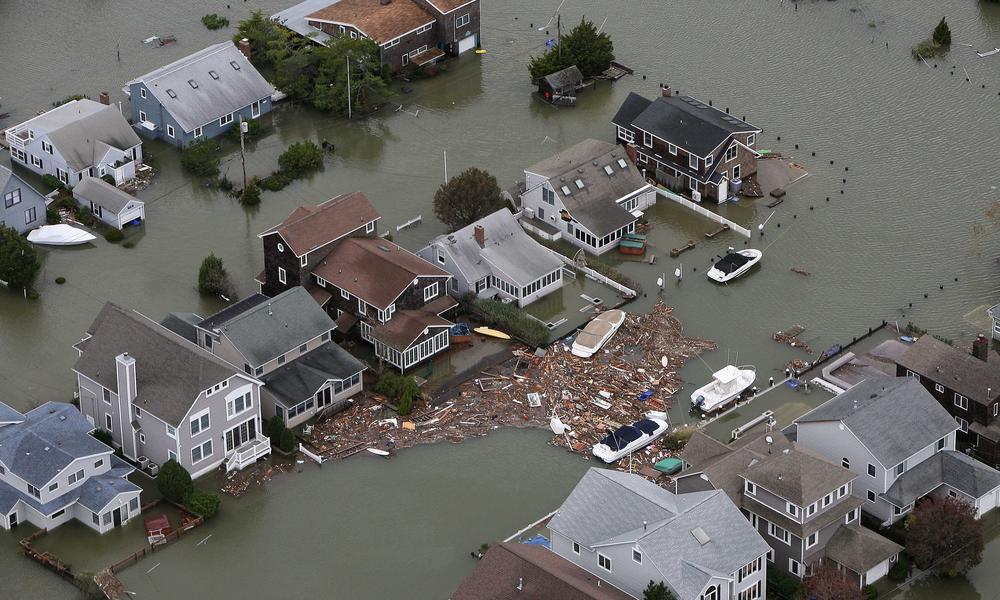 Hurricane Sandy damage in Seaside, N