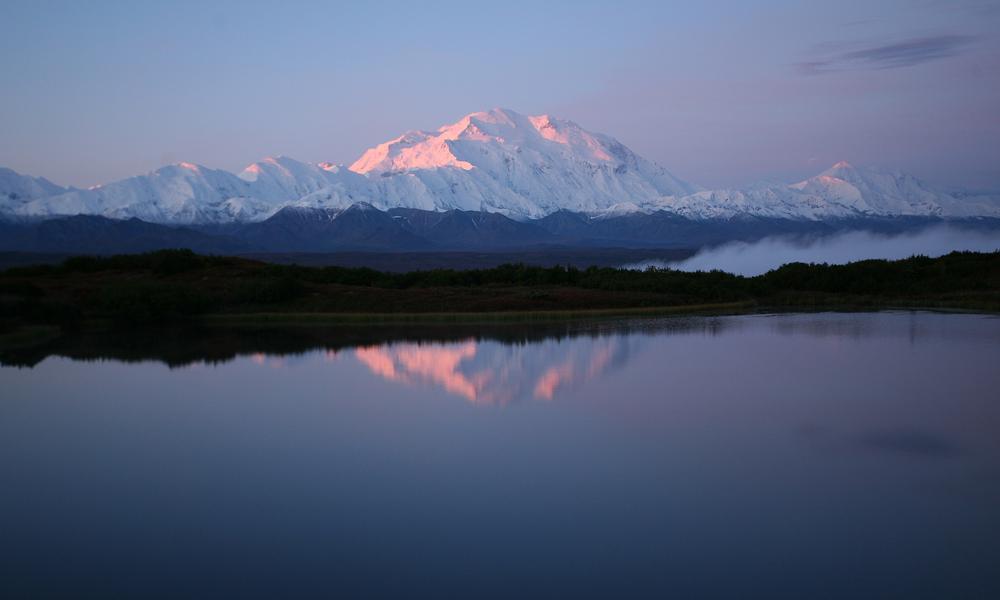 Eric rock alaska mountain lake sun