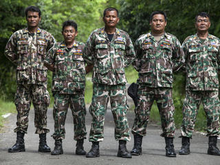 Rangers in Kui Buri, Thailand