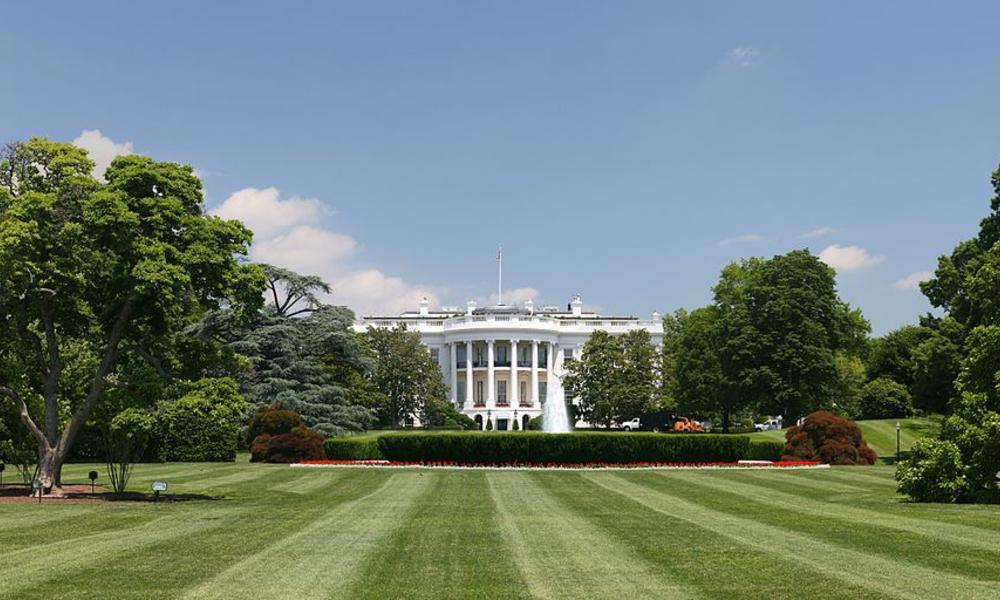 white house and lawn - photo by Daniel Schwen