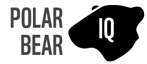Polar Bear Animal IQ Logo
