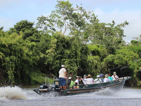 motor boat in amazon