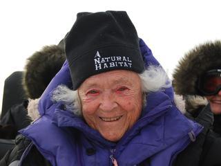 Elsa Bailey on her polar bear adventure