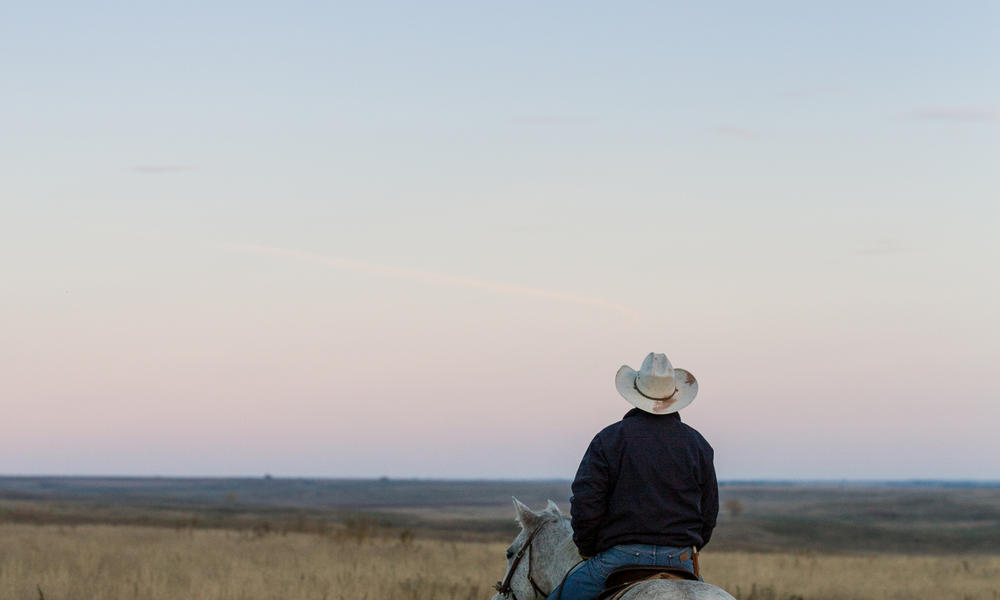 Rancher in Lowry, South Dakota